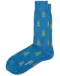 Calcetines estampados azules