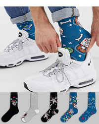 Calcetines estampados azules de ASOS DESIGN