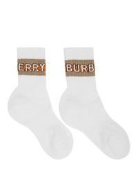 Calcetines estampados blancos de Burberry