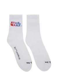 Calcetines estampados blancos de Etro