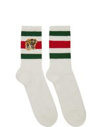 Calcetines estampados blancos de Gucci