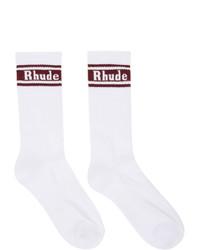 Calcetines estampados blancos de Rhude