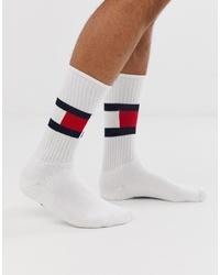 Calcetines estampados blancos de Tommy Hilfiger