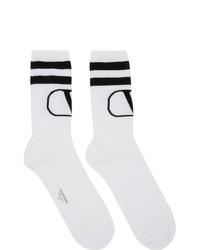 Calcetines estampados en blanco y negro de Valentino