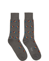 Calcetines estampados en gris oscuro de Paul Smith