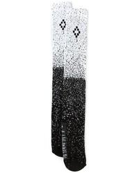 Calcetines estampados en negro y blanco