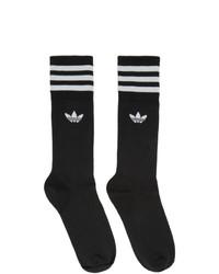 Calcetines estampados en negro y blanco de adidas Originals