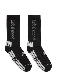 Calcetines estampados en negro y blanco de Aries