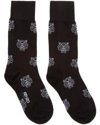 Calcetines estampados en negro y blanco de Kenzo