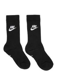 Calcetines estampados en negro y blanco de Nike