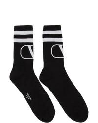 Calcetines estampados en negro y blanco de Valentino
