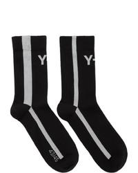 Calcetines estampados en negro y blanco de Y-3