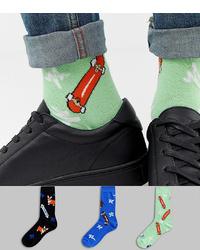 Calcetines estampados en verde menta de ASOS DESIGN