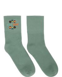 Calcetines estampados en verde menta de Gucci
