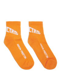 Calcetines estampados naranjas de Heron Preston