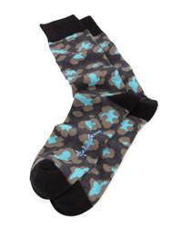 Calcetines estampados negros