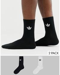Calcetines estampados negros de adidas Originals