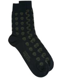 Calcetines estampados negros de Alexander McQueen