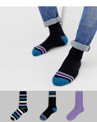Calcetines estampados negros de ASOS DESIGN