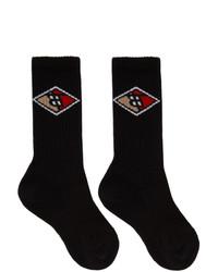 Calcetines estampados negros de Burberry