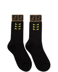 Calcetines estampados negros de Fendi
