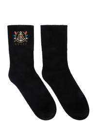 Calcetines estampados negros de Gucci