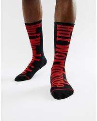 Calcetines estampados negros de HUF