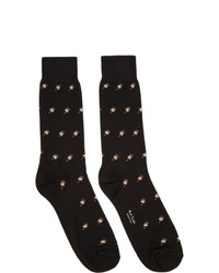 Calcetines estampados negros de Paul Smith