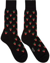 Calcetines estampados negros de Paul Smith