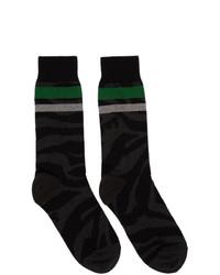 Calcetines estampados negros de Sacai