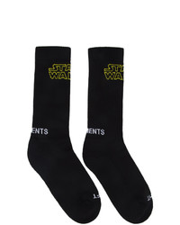 Calcetines estampados negros de Vetements