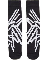 Calcetines estampados negros de Y-3
