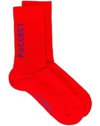 Calcetines estampados rojos