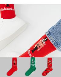 Calcetines estampados rojos de ASOS DESIGN