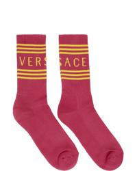 Calcetines estampados rosa de Versace