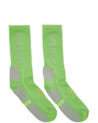 Calcetines estampados verdes de Aries