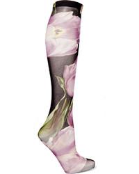 Calcetines estampados violeta claro de Dolce & Gabbana
