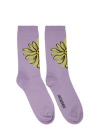 Calcetines estampados violeta claro de Jacquemus