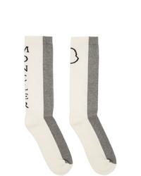 Calcetines grises de Moncler