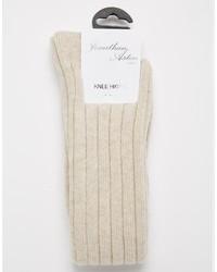 Calcetines hasta la rodilla en beige de Jonathan Aston