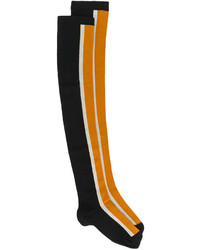 Calcetines hasta la rodilla estampados negros de Marni