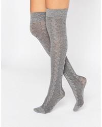 Calcetines hasta la rodilla grises de Jonathan Aston