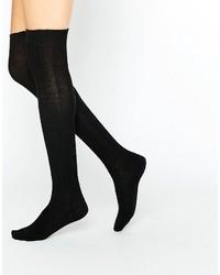 Calcetines hasta la rodilla negros de Jonathan Aston