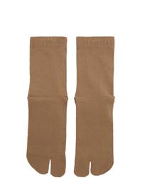 Calcetines marrón claro de Maison Margiela