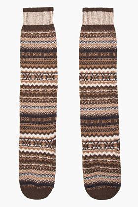 Calcetines marrónes de Moncler