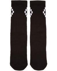 Calcetines negros de Marcelo Burlon County of Milan