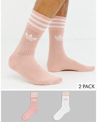 Calcetines rosados de adidas Originals