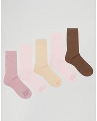 Calcetines rosados de Asos