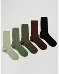 Calcetines verde oliva de Asos