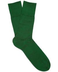 Calcetines verde oscuro de Falke